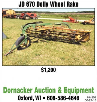 JD 670 Dolly Wheel Rake