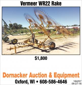 Vermeer WR22 Rake