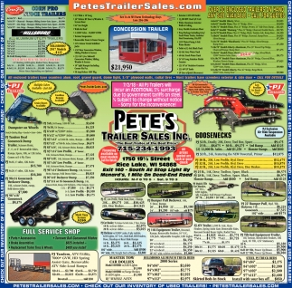 Petes Trailer Sales Inc