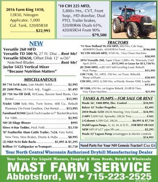2016 Farm King 1410