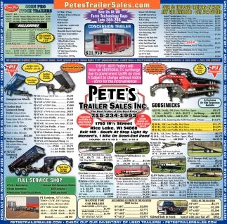 Pete's Trailer Sales Inc