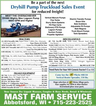Dryhill Pump Truckload Sales Event