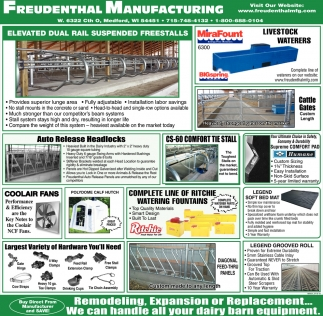 Elevated Dial Rail Suspended Freestalls