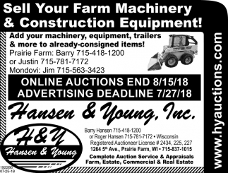 Sell Your Farm Machinery & Construction Equipment!