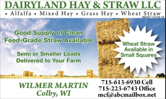 Good Supply of Clean Feed-Grade Straw