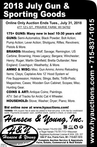 2018 July Gun & Sporting Goods