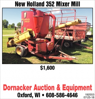 New Holland 352 Mixer Mill