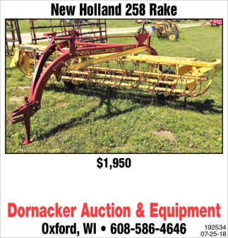 New Holland 258 Rake