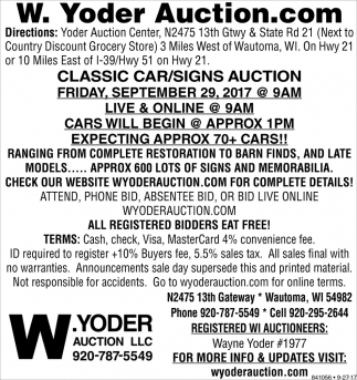 Classic Car/Signs Auction