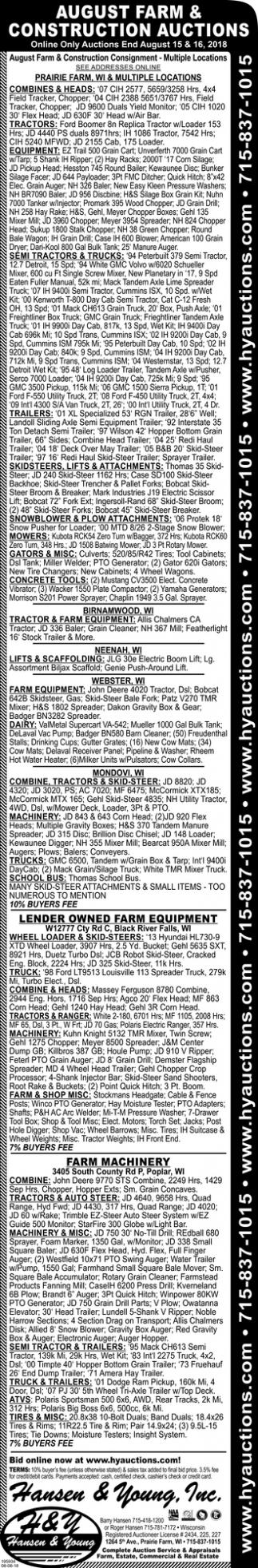 2018 June Auto & Equipment