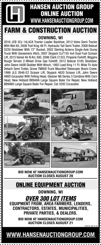Farm & Construction Auction