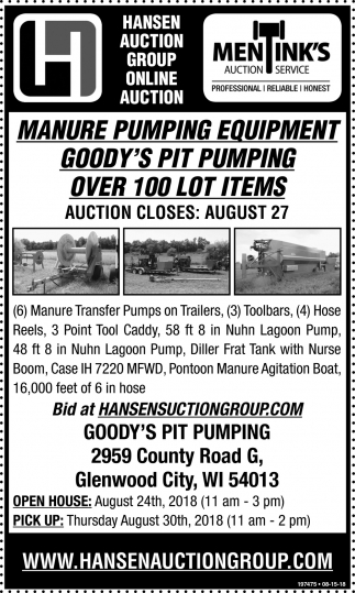 Manure Pumping Equipment