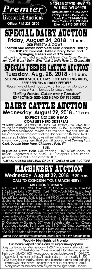 Special Dairy Auction