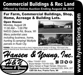 Commercial Buildings & Rec Land