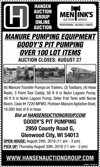 Manure Pumping Equipment