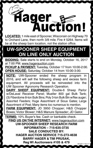 Another Hager Auction