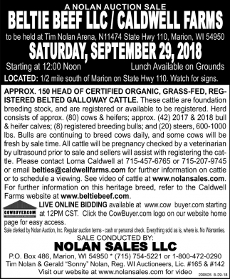 Beltie Beef LLC/ Caldwell Farms