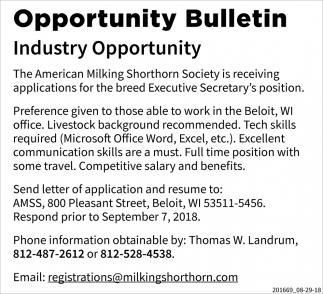 Opportunity Bulletin