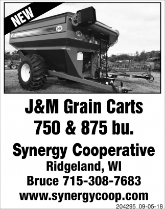 J&M Grain Carts 750 & 875 bu.