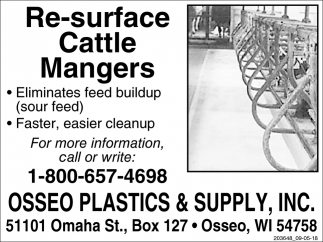 Re-Surface Cattle Mangers