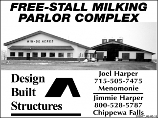 Free-Stall Milking Parlor Complex