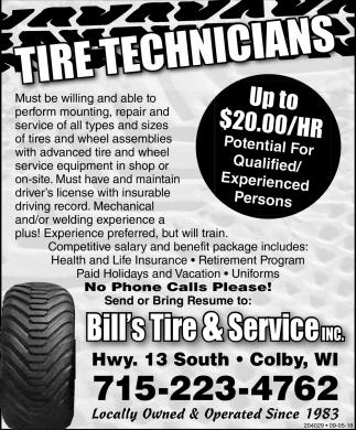Tire Technicians