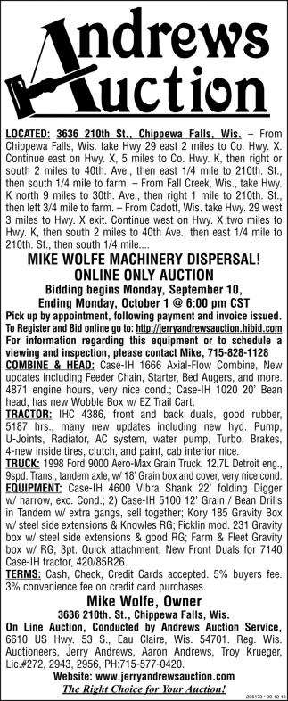 Mike Wolfe Machinery Dipersal!