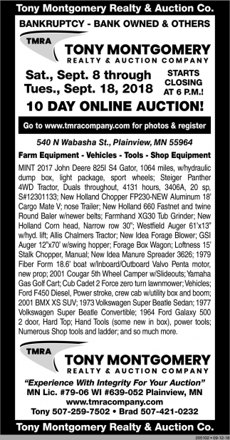 10 Days Online Auction!