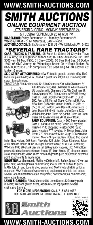 Several Rare Tractors