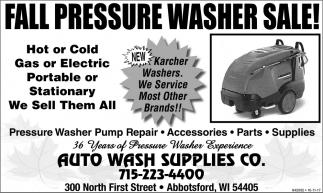 Fall pressure washer sale!