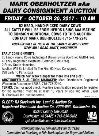 Dairy Consignment Auction