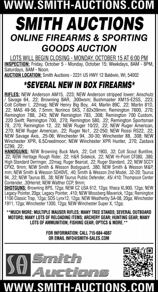 Online Firearm & Sporting Good Auction