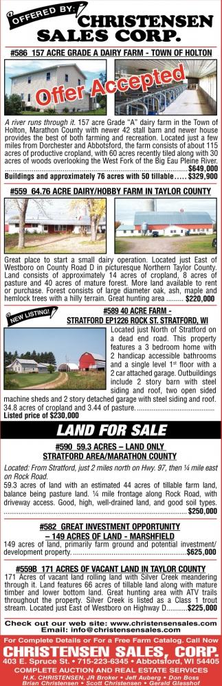 157 Acre Grade a Dairy Farm