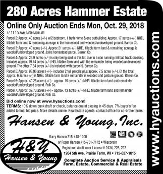 280 Acres Hammer Estate