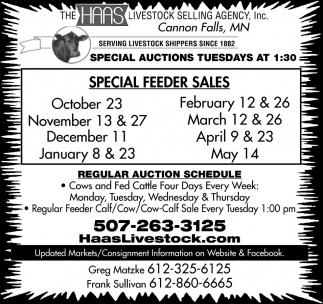 Special Feeder Sales