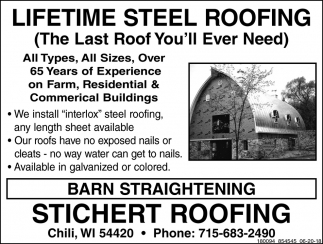 Lifetime Steel Roofing