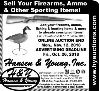 Sell your Firearms, Ammo & Other Sporting Items