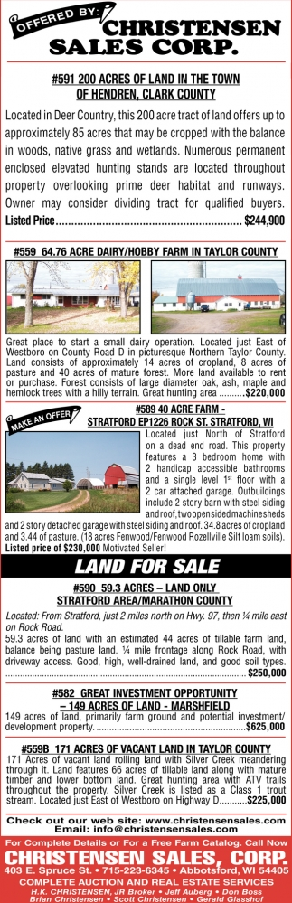 #591 200 Acres of Land in the Town