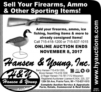 Sell your firearms, ammo & other sporting items!