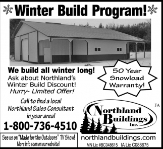Winter Building Program