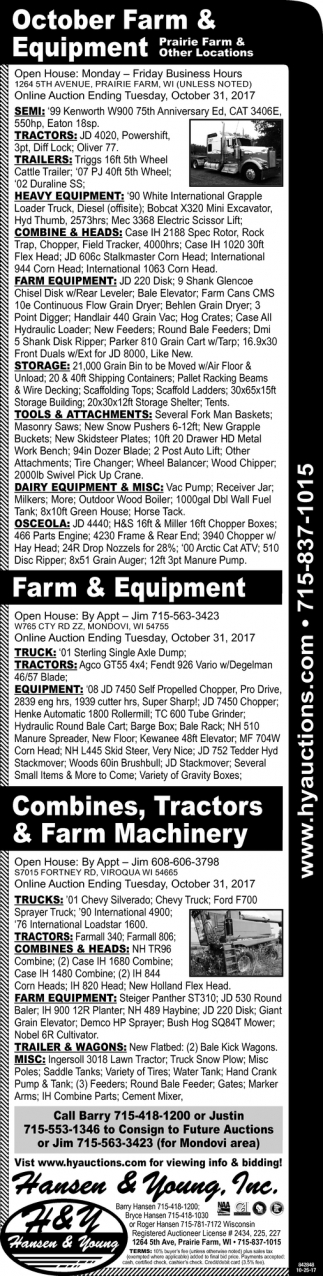 October Farm and Equipment