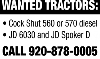 Wanted Tractors
