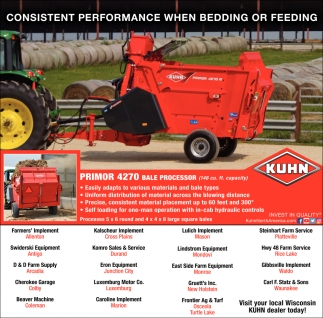 Consistent Performance when Bedding or Feeding