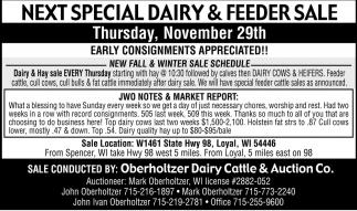 Special Dairy & Feeder Sale