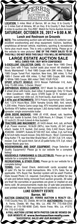 Large Estate Auction Sale