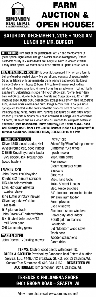 Farm Auction & Open House
