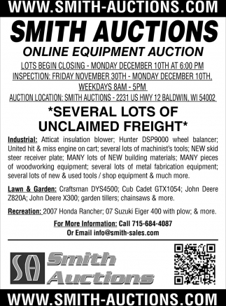 Onlique Equipment Auctions