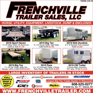 Large Inventory of Trailers in Stock
