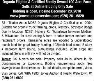 Organic Eligible / Certified Family Owned