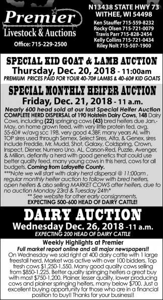 Special Kid Goat & Lamb Auction